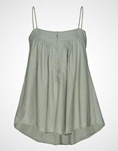 Rabens Saloner Cotton String Top T-shirts & Tops Sleeveless Grønn RABENS SAL R
