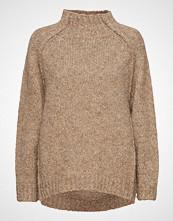 Rabens Saloner Fluffy Knit Open Back Sweater Strikket Genser Beige RABENS SAL R