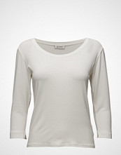 Masai Cream Top Fitted 3/4 Slv Basic T-shirts & Tops Long-sleeved Hvit MASAI