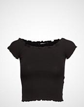 Gina Tricot Cara Off Shoulder Top T-shirts & Tops Short-sleeved Svart GINA TRICOT