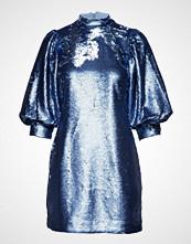 Ganni Sequins Mini Dress Kort Kjole Blå GANNI