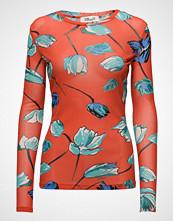 Diane von Furstenberg L/S Fitted T Shirt T-shirts & Tops Long-sleeved Rød Diane Von Furstenberg