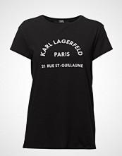 Karl Lagerfeld Rue Lagerfeld T-Shirt T-shirts & Tops Short-sleeved Svart KARL LAGERFELD