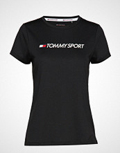Tommy Sport Tee Chest Logo T-shirts & Tops Short-sleeved Svart TOMMY SPORT