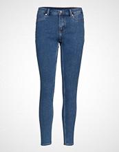 Cheap Monday Mid Spray Norm Core Skinny Jeans Blå CHEAP MONDAY