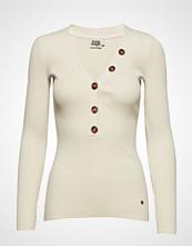Twist & Tango Miriam Button Sweater Strikket Genser Beige TWIST & TANGO