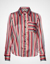 Twist & Tango Nathalie Shirt Pink Stripe Bluse Langermet Rød TWIST & TANGO