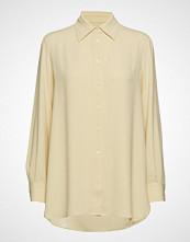 Filippa K Long Crepe Shirt Langermet Skjorte Gul FILIPPA K