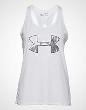 Under Armour Tech Tank Graphic T-shirts & Tops Sleeveless Hvit UNDER ARMOUR