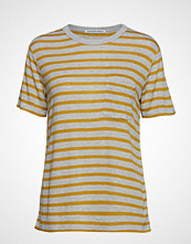 T by Alexander Wang New Striped Slub - Ss Top T-shirts & Tops Short-sleeved Grå T BY ALEXANDER WANG