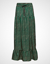 Scotch & Soda Tiered Printed Maxi Skirt Langt Skjørt Grønn SCOTCH & SODA