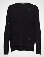 Coster Copenhagen Sweater In Mohair Knit W. Embroider Strikket Genser Blå COSTER COPENHAGEN