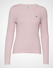 Lexington Clothing Felizia Cable Sweater Strikket Genser Rosa LEXINGTON CLOTHING