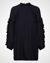 Mayla Stockholm Valeria Frill Sleeve Dress Bluse Langermet Blå MAYLA STOCKHOLM