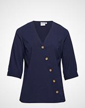 Junarose Jrabine 3/4 Sleeve Shirt - K Bluse Langermet Blå JUNAROSE
