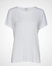 Dagmar Upama Rib Top T-shirts & Tops Short-sleeved Hvit DAGMAR