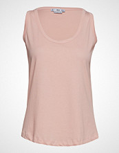 Mango Organic Cotton Basic Top T-shirts & Tops Sleeveless Rosa MANGO