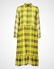 Designers Remix Archie Shirt Dress Knelang Kjole Gul DESIGNERS REMIX