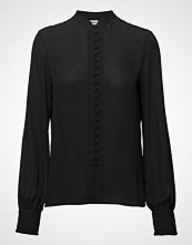Filippa K Sheer Button Blouse Bluse Langermet Svart FILIPPA K