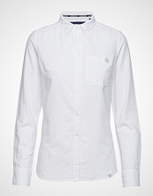 Superdry Oxford Shirt Langermet Skjorte Hvit SUPERDRY