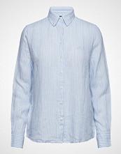 Gant The Linen Chambray Stripe Shirt Langermet Skjorte Blå GANT
