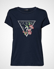 GUESS Jeans Ss Cn Foliage Tee T-shirts & Tops Short-sleeved Svart GUESS JEANS