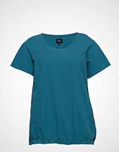 Zizzi Mmarrakesh, Ss, Blouse T-shirts & Tops Short-sleeved Blå ZIZZI
