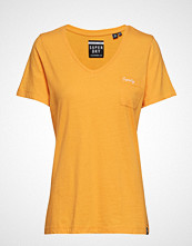 Superdry Ol Essential Vee Tee T-shirts & Tops Short-sleeved Gul SUPERDRY