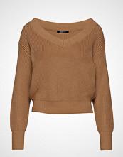 Gina Tricot Maja Knitted Sweater Strikket Genser Brun GINA TRICOT
