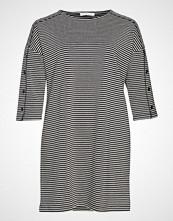Violeta by Mango Striped Cotton Dress Kort Kjole Svart VIOLETA BY MANGO