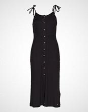 Superdry Charlotte Button Down Midi Dress Knelang Kjole Svart SUPERDRY