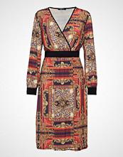 Gina Tricot Paula Wrap Dress Knelang Kjole Multi/mønstret GINA TRICOT