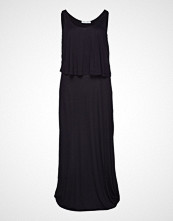 Violeta by Mango Double Layer Dress Knelang Kjole Svart VIOLETA BY MANGO