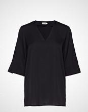 Filippa K Silk Tunic Bluse Kortermet Svart FILIPPA K