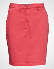 Gant O1. Classic Chino Skirt Knelangt Skjørt Rosa GANT