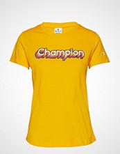 Cènnìs Crewneck T-Shirt T-shirts & Tops Short-sleeved Gul CHAMPION