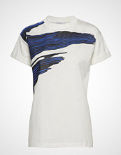 BOSS Business Wear Evica_print T-shirts & Tops Short-sleeved Hvit BOSS BUSINESS WEAR