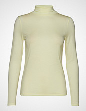 Filippa K Tencel Polo Neck Top T-shirts & Tops Long-sleeved Grønn FILIPPA K