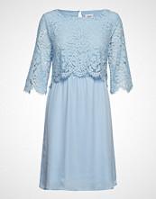 Saint Tropez Party Dress W Lace Kort Kjole Blå SAINT TROPEZ
