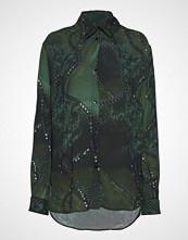 Diana Orving Folded Collar Blouse Bluse Langermet Grønn DIANA ORVING