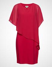 Brandtex Dress-Knitted Knelang Kjole Rød BRANDTEX