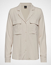 Gina Tricot Sammy Utility Shirt Bluse Langermet Creme GINA TRICOT