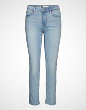 Mango Cropped Slim-Fit Grace Jeans Skinny Jeans Blå MANGO