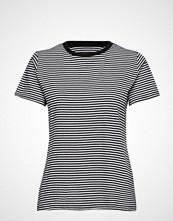 Mads Nørgaard Organic Favorite Stripe Trimmy T-shirts & Tops Short-sleeved Blå MADS NØRGAARD