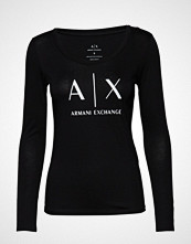 Armani Exchange Ax Woman T-Shirt T-shirts & Tops Long-sleeved Svart ARMANI EXCHANGE