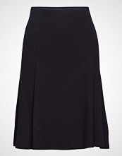 Saint Tropez Jersey Skirt W Volume Knelangt Skjørt Svart Saint Tropez