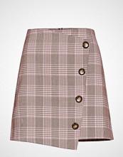 Gina Tricot Lizzy Checked Skirt Kort Skjørt Rosa GINA TRICOT