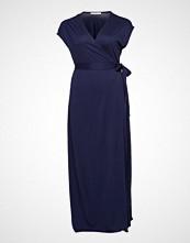 Violeta by Mango Bow Wrap Dress Knelang Kjole Blå VIOLETA BY MANGO