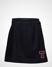 Tommy Jeans Tjw Wool Blend Skirt Kort Skjørt Blå Tommy Jeans