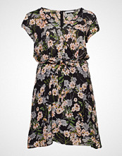 Violeta by Mango Floral Print Dress Knelang Kjole Svart VIOLETA BY MANGO